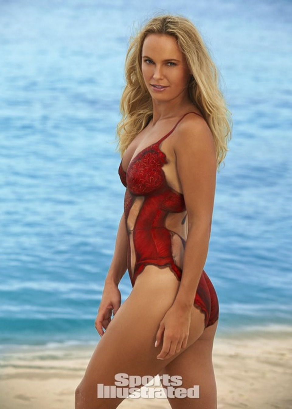 ... Wozniacki, il sexy bodypainting per Sports Illustrated - Leggo.it